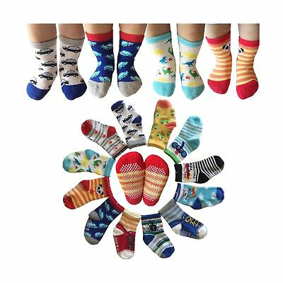 Kakalu Assorted Non-Skid Ankle Cotton Socks with Grip for 12-36 Months Baby, ...