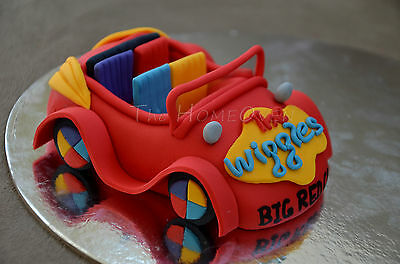 3D Edible Wiggles Big Red Car Fondant Cake Topper (Large) For Birthdays