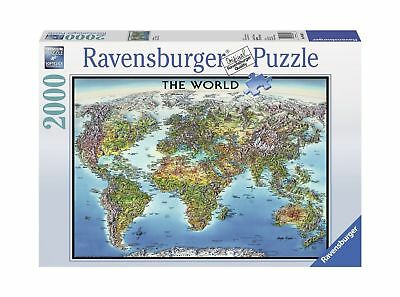 Ravensburger antique world map 5000 piece jigsaw puzzle 4399 ravensburger world map jigsaw puzzle 2000 piece gumiabroncs Image collections
