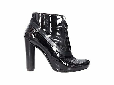 5f3b01567a2b BLACK LOUIS VUITTON Patent Leather Ankle Boots -  455.00