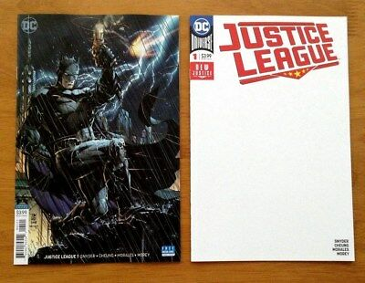 Justice League # 1 Cover B Variant + Cover D Blank Variant 1st Print DC 2018 NM+