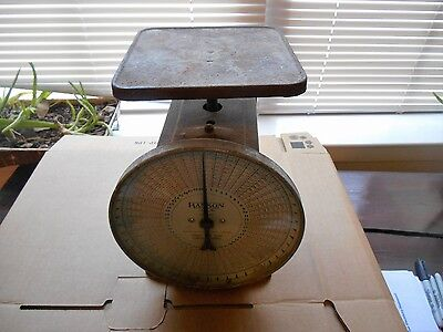 Vintage 1928 Hanson Parcel Post Scale 50 lb. Capacity  Glass Cover