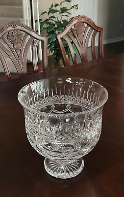 Waterford Crystal ~ Thistle Trifle Bowl ~ Mib ~ Wedding Gift Perfect ~ Huge