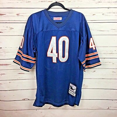 best service 39332 1ac5e Mitchell & Ness Chicago Bears Throwback Football Jersey Gale Sayers 40 Size  52