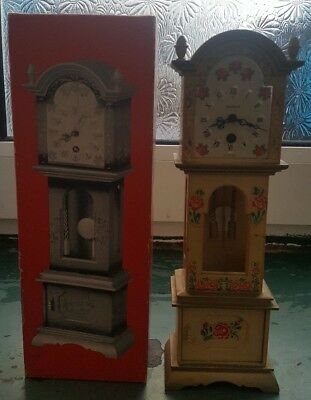 Vintage Splendex West German Miniature Grandfather Clock