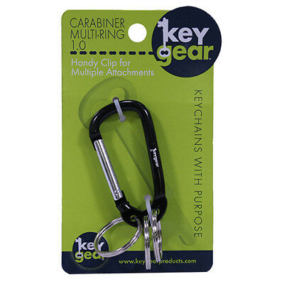 Ultimate Survival Technologies 50-KEY0095-01 Carabiner Multi-Ring 1.0, Black