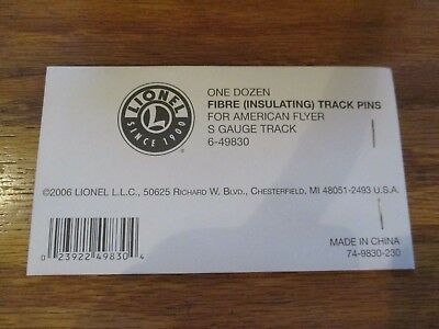Lionel 6-49830  Fibre (Insulatating) Track Pins for AF S Gauge Track One dozen