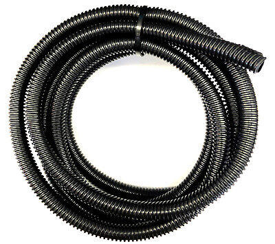 10 METRES BLACK FLEXIBLE CABLE CONVOLUTED CONDUIT SPLIT TUBING 15//19.5mm 191947