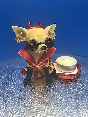 """New Aye Chihuahua """"One Hot Dive Teaalight""""Resin Figurine By West #PD7089- No Box"""