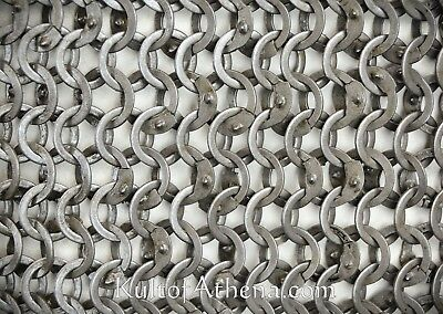 Chain Mail Sheet 9 mm 18 Gauge Flat Ring Alt solid Ring Wedge Riveted