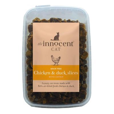 The Innocent Cat Chicken & Duck Slices with Catnip Treats 600g