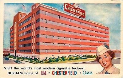 Advertising Postcard: Chesterfield Cigarette Factory