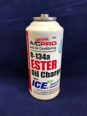 A/CPro R-134a Ester Oil Charge W/ICE32 Air Conditioning Performance Enhancer 3oz