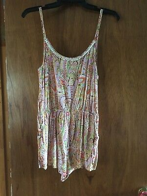 ef26aaa79ff Victoria s Secret bathing suit cover up romper coral paisley medium m nwot