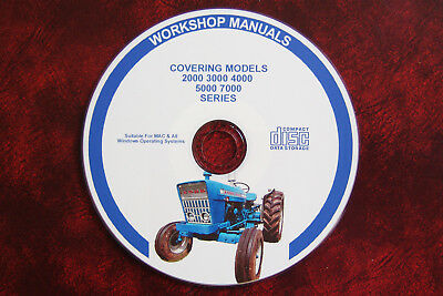 Ford 2000 3000 4000 5000 7000 Tractor Workshop Service Repair Manual + Parts Cat