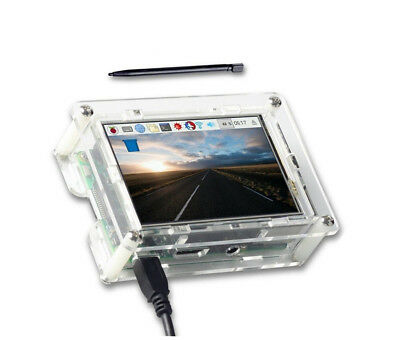 New 3.5 Inches Touch Screen Display Monitor LCD with Case for Raspberry Pi 3 B+