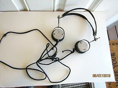Antique Federal Telephone & Telegraph Headset Type 53W 2200 Ohms