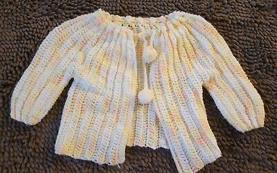 Handmade*Orange Creme Vintage Sweater*Toddler Girl 12-18mos*EVC