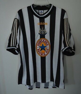 26c4392166114 Vintage 90s Adidas Newcastle United Alan Shearer 9 Football Soccer Jersey  Mens L