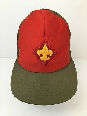 Boy Scout Vintage Hat Mesh Trucker Cap Foam Front with Patch Rare Made in USA