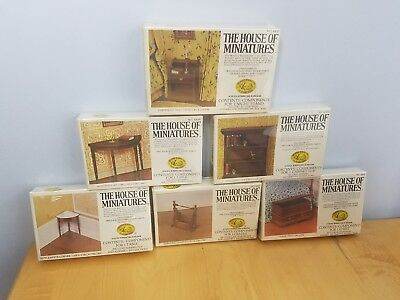 The House Of Miniatures Doll House Furniture Kits Lot Of Seven 6 Kits X Acto