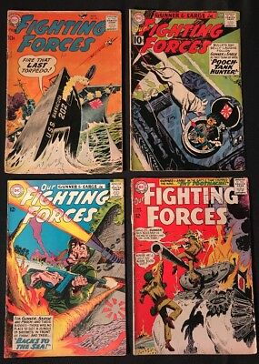 Our Fighting Forces Comic Lot -4 Books- #39, 63, 79, 89 GD - VG