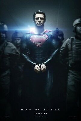 Man of Steel Superman Henry Cavill Double Sided Original 27x40 Movie Poster - A