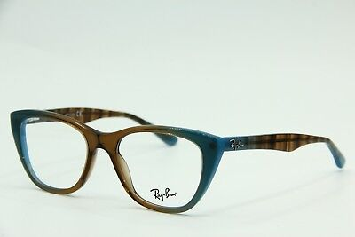 48cbfccae7cbe New Ray-Ban Rb 5322 5490 Brown Blue Eyeglasses Authentic Frame Rx Rb5322 51-