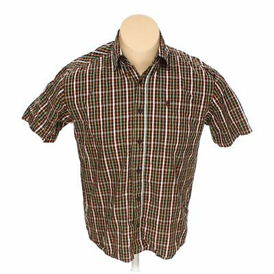 ee7d735cf92 SOUTH POLE MEN'S Button-up Short Sleeve Shirt, size M, brown, green ...