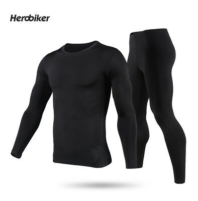 HEROBIKER Men Thermo Underwear Motorcycle Base Layers Tight Johns Tops & Pants