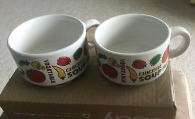 HOUSTON HARVEST SOUP Bowls/Mugs w/ Handles. set of 2 - $8.95 | PicClick