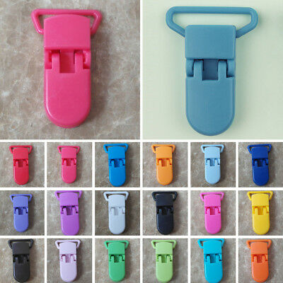 Baby Clips Bulk Colorful Pacifier 10 Pcs Strap Infant Plastic Holder Nipple