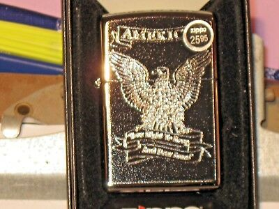 New ZIPPO USA Windproof LIGHTER 28290 Eagle Your Right to Keep and Bear Arms NRA
