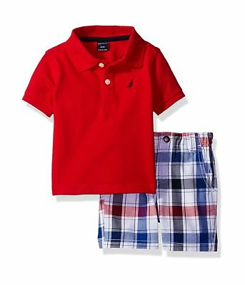 Nautica NWT 12M Baby Infant Boy 2pc Short Sleeve Tee Set Outfit $38