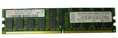 2x IBM Hynix 4GB DDR2 667MHz PC2-5300P ECC DIMM RAM 43X5028 (Total: 8GB)