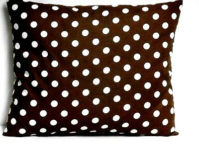 Toddler Pillow White dots on Brown Cotton P11-5 New Handmade