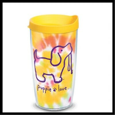 Tervis 16Oz. Orange And Yellow Tie Dye Puppy Love Tumbler With Matching Lid