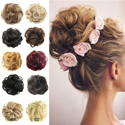 Curly Messy Bun Hair Piece Scrunchie Fake Natural Look Extensions Hairpiece 2018