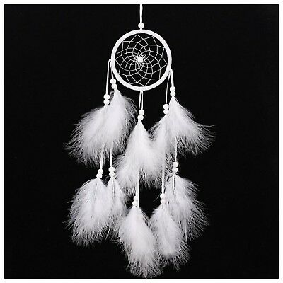 Dream Catcher With White Feathers Hand Made Decorations | Ships FREE In US!