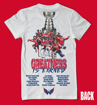 Washington Capitals Stanley Cup Champions 2 SIDED SHIRT - Ovi ALL CAPS WOW !!!!