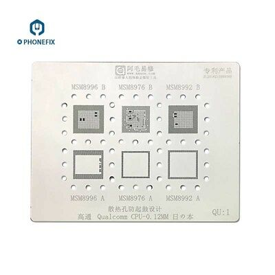 BGA Reballing Stencil Template for Qualcomm QU MSM MTK MU HUAWEI HU CPU Repair