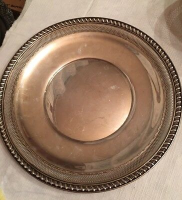 Vintage Watson Sterling Silver Serving Tray 10inch lattice 230g