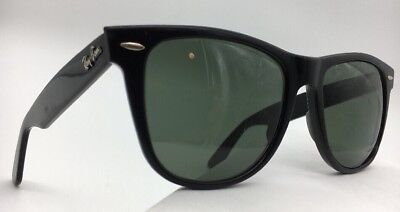 7dbe0be9dd2 Vintage B l Ray Ban L1724 G15 Uv Thick Black Ebony Wayfarer Ii Sunglasses R1