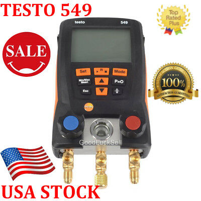 TESTO 549 REFRIGERATION DIGITAL MANIFOLD 0560 0550 -14.7 to 870 PSI HVAC NEW USA