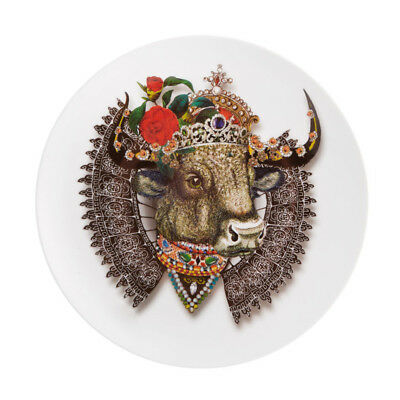 NEW Christian Lacroix LWYW Monseigneur Bull Dessert Plate