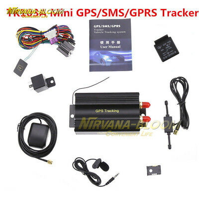 GPRS GSM SMS Vehicle Car GPS Tracker TK103A Tracking Locator Device Alarm System
