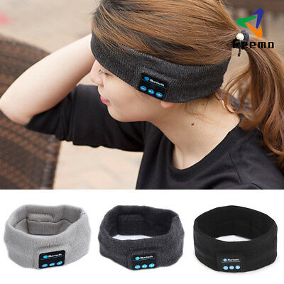 Sports Bluetooth Wireless Earphone Stereo Headphone Headset Sleep Headband DE