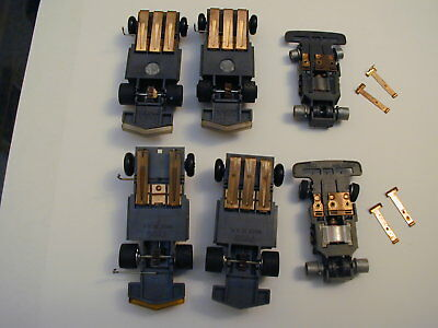 Big Lot Of Chassis - Vintage Tyco Total Control Racing Tcr Slotless Slot Car