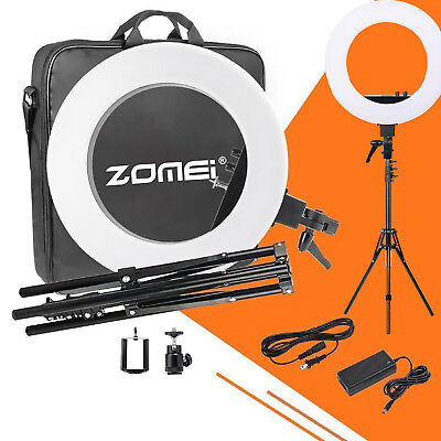 ZOMEI 12/18Inches LED Ring Light for Camera Lighting Kit Ball Head EU Plug