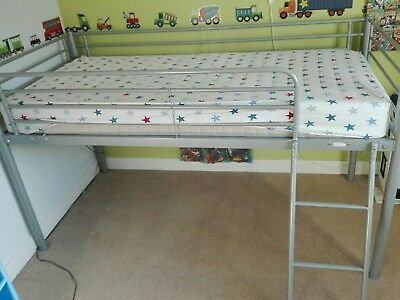 Childs Cabin Bed Mid Sleeper Metal Frame And Ladder Only No Mattress